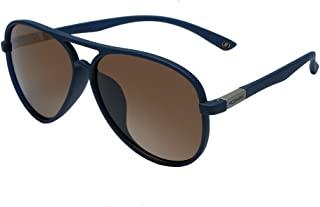 Polarized Retro Aviator Sunglasses for Women Men UV 400 Protection Plastic Frame with Metal Dark Lens Round Lenses