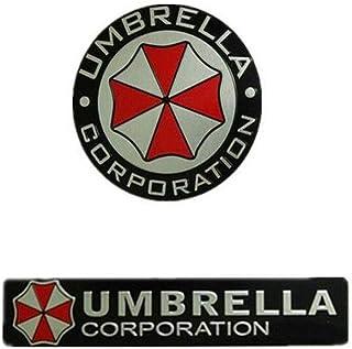 Auteal (alle) Metall 2 Stück/Set Metall 3D Resident Evil Umbrella Corporation Auto Emblem Aufkleber Auto Universal