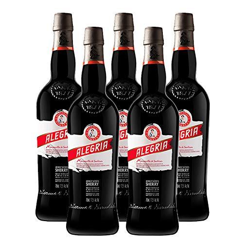 Vino Manzanilla Alegria de 75 cl - D.O. Manzanilla-Sanlucar de Barrameda - Bodegas Williams & Humbert (Pack de 5 botellas)