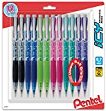 Pentel ICY Razzle-Dazzle Mechanical Pencil, 0.7mm, Assorted Barrels, Color May Vary, Pack of 12 (AL27RDBP12M)
