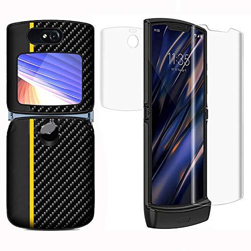 Funda delgada de piel sintética con protector de pantalla para Motorola...