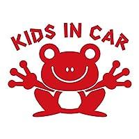 imoninn KIDS in car ステッカー 【シンプル版】 No.22 カエルさん (赤色)
