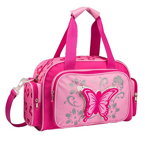STEFANO Kinder Reisegepäck Schmetterling pink rosa -präsentiert von RabamtaGO- (Reisetasche)
