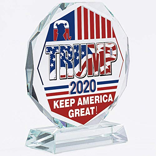 Donald Trump Election Gifts 2020 | Keep America Great | Presidential | President | Support Patriot | Political | Plate | Plaques