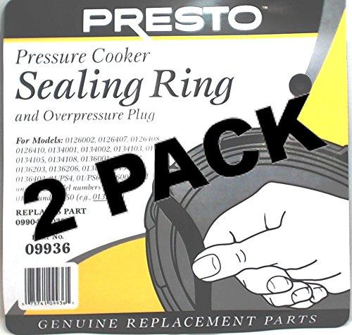 2 Pk, Presto Pressure Cooker Sealing Ring Gasket, 09936