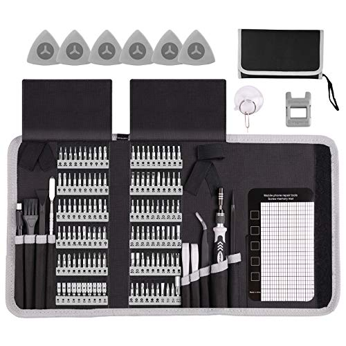 Electronics Repair Tool Kit, HPFIX 140pcs Precision Scredriver Set Magnetic for Laptop, MacBook, Computer, iPhone, Watch, Camera, Tablet, Game Console Repair
