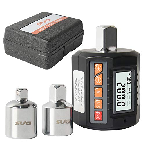 """Digital Torque Adapter 200Nm- 1/2"""" Drive (14.75 to 147.5ft-lbs.) with Buzzer and Backlight Function (Accurate to 2%) Calibrated"""