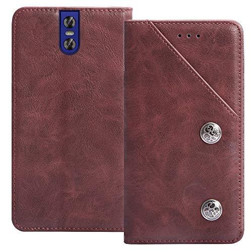 YLYT Flip TPU Silikon Rot Schutz Hülle Hülle Für OUKITEL K3 Pro 5.5 inch Etui Leder Tasche Handyhülle Hochwertiges Stoßfeste Kartenfach Cover