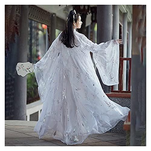 Ancient Tang Dynasty - Disfraz de princesa para mujer (color: blanco, tamao: M.)