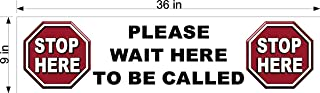 Stop HERE Please Wait to BE Called Floor Decal Pharmacy Doctors Office Two Sizes (9