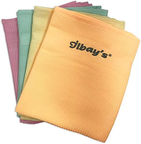 Originele Ilbays microvezel poetsdoeken voordeelverpakking 2 x 4 stuks (in totaal 8 poetsdoekjes) huishouden, keuken…