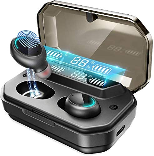 Bluetooth Kopfhörer in Ear Racokky Kopfhörer Kabellos mit 120 Stunden Spielzeit Bluetooth-Ohrhörer,Bluetooth 5.0 Kabellose Ohrhörer mit 3000mAh LCD Ladetasche und Mikrofon, IPX7 Wasserdicht