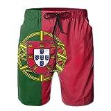 WowMyGod Short de Plage pour Homme Men's Sports Swim Trunks Portugal Flag Swimwear Beach Trunks for Outside Home with Pockets