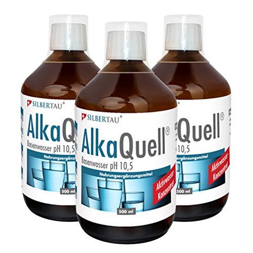 AlkaQuell 3 x 500 ml von Silbertau - Basenwasser für den Säure und Basenhaushalt (3)