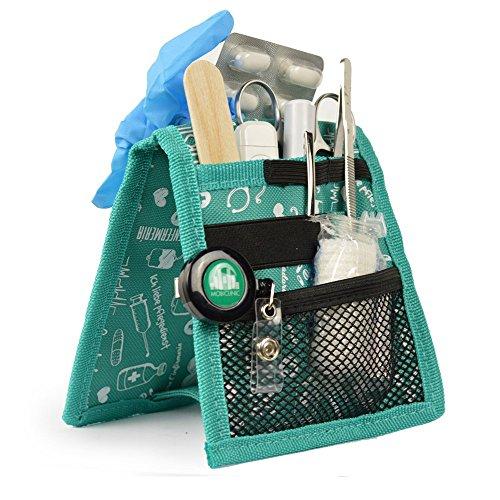 Organizador auxiliar de enfermería, Keen's de Elite Bags, Para bata o pijama, Diseño exclusivo con estampados en color verde ⭐