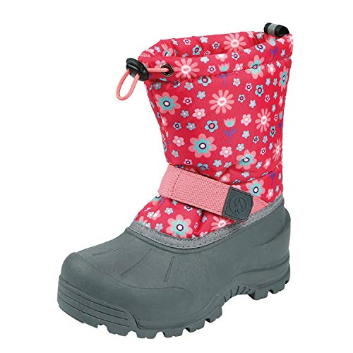 Northside Baby-Girl's Frosty Snow Boot, Fuchsia/Coral, 8 Medium US Toddler