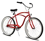 Firmstrong Urban Man Single Speed Beach Cruiser Bicycle, 26-Inch, Red