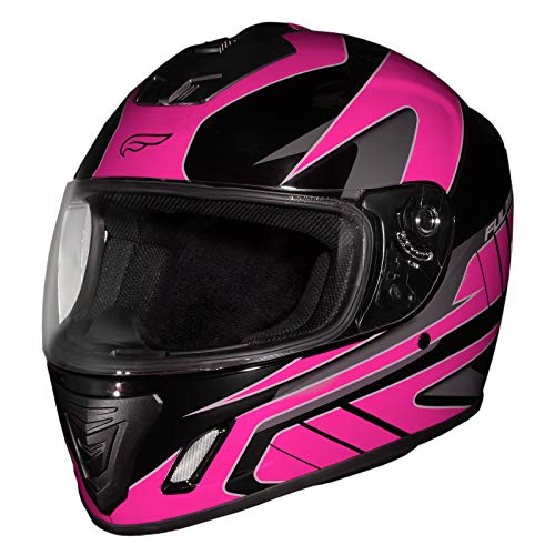 Fulmer, 26-5684, Adult Full Face Motorcycle Helmet DOT Approved 152 Ace - Pink, Medium