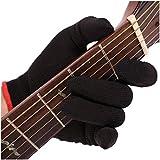 SSFG Protección Profesional para los Dedos para prevenir el Dolor en la yema del Dedo Guante de Guitarra Lavable para la Mano Izquierda