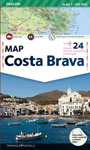 Costa Brava, map: Map
