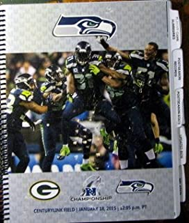 Media Guide NFL NFC Championship Game January 18 2015 Seattle Seahawks vs Green Bay Packers