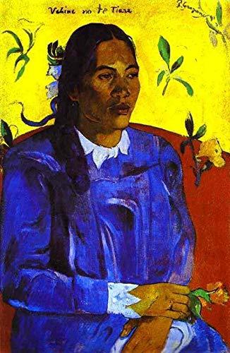 8 berühmte Gemälde auf Leinwand von akademischen Malern - 40€-1500€ Handgefertigte Ölgemälde - Vahine no te tiare Woman with a Flower Post-Impressionismus Paul Gauguin - Kunst Bilder -Maße07