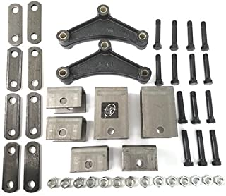 Southwest Wheel Tandem Trailer Axle Hanger Kit for Double Eye Springs (5.2K Axles)