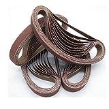 24 unids/set bandas de lijado duraderas lijadoras abrasivas banda de lijado bandas abrasivas herramientas de pulido de pulido para madera metal blando, China