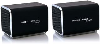 Music Angel Friendz Speaker Twin Pack Bundle for iPhone/iPad/iPod/Mp3/Laptop/Smartphone - Black/Black
