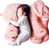Pelande Elefant Plüschtier Elefant Kuscheltier Puppe Baby Schlafen Weiche Komfort Kissen Kindersofa Matte (Roas, 60 cm)