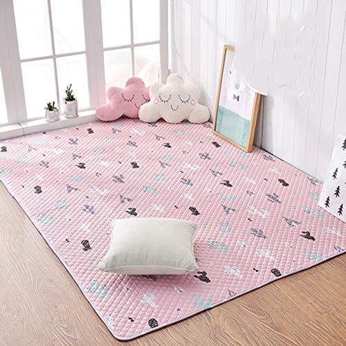 YUNMO Teppich Baby Kids Baumwollteppiche Kinderzimmer Teppiche Spielmatten (Farbe : B, größe : 90cmx160cm)