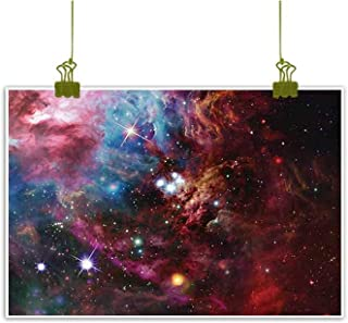 Sumilace Art Poster Wall Art Painting, Space Nebula with Star Cluster in The Cosmos Universe Galaxy Solar Celestial Zone Home Decoration - 23