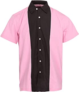 Neon Lounge Mens American Rockabilly Bowling Shirt