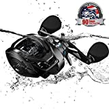 Cadence CB8 Baitcasting Reels, 6.7oz Ultra Lightweight Casting Reels,20 LB Carbon Fiber Drag Baitcasters,Super Smooth 9+1 BB,Stronger Aluminum Body Durable Baitcast Fishing Reel Low Profile High Value