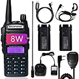 BaoFeng UV-82 BaoFeng Radio High Power Ham Radio 2 Way Radio with Extra 2800mAh Battery Full Kits(1 Pack-Black)