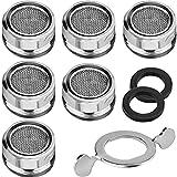 filtri per rubinetti, 6 pezzi m24 rompigetto rubinetto aeratore filtro acqua rubinetto cucina aeratori per rubinetti cucina bagno