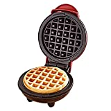 CMmin Mini Wafflera, eléctrico Wafflera, Revestimiento Antiadherente, calefacción de Doble Cara, fácil de Usar, Gran elección for panaderías, restaurantes, cantinas, etc.