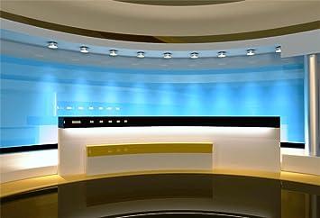 8x6FT Photography Background Modern Hall Office Reception Table Graduation Ceremony House Interior Design Pop Music Party Banquet Birthday Business Ball Photo Portrait Studio Vinyl Video Prop