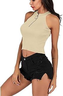 Rizzon Womens Golf Polo Shirt for Women Sleeveless Summer Tank Tops Knitted Fashionable Sportswear- Quick Dry Womens Shirt