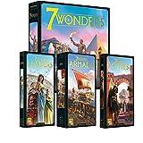 Asmodée Italia 7 Wonders Nueva edición base + ampliaciones Cities, Armada, Leaders Bundle Italiano