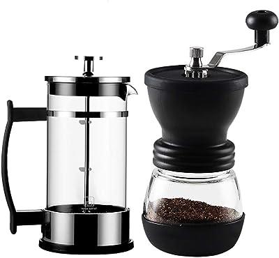 手動コーヒーマシン 旅行やキャンプするのに適した耐熱ガラスコーヒーグラインダー 調整可能な粗いセラミックバリ、手動コーヒーグラインダー、コンパクトなサイズ、 (Size : C)