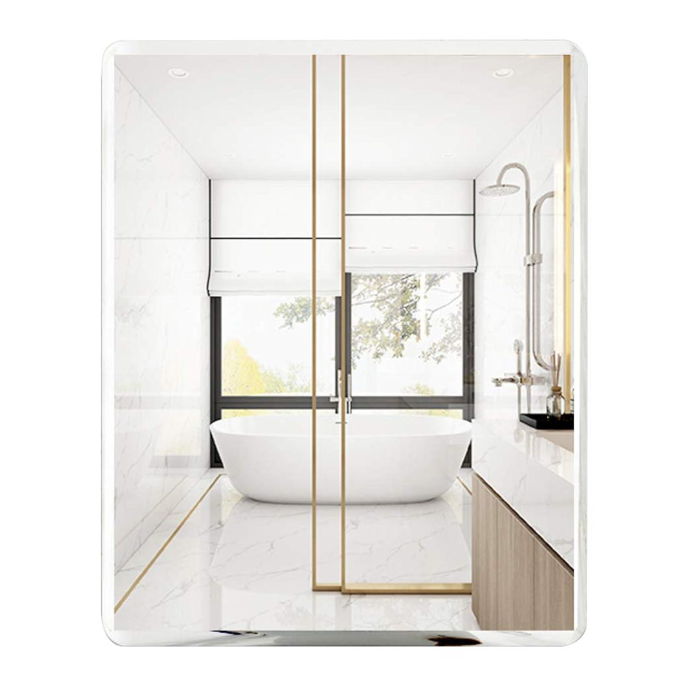 スキップつづり測定可能長方形の鏡大きな壁の鏡フレームレスの洗面化粧台ベッドルームまたはバスルーム装飾シンプル斜め(40x60cm、50x70cm、60x80cm)
