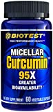 Biotest Micellar Curcumin Solid Lipid Turmeric Particles (2 Month Supply) - 95x Greater Absorption Than Piperine Formulas - for Heart Health, Joint Support, Immune Support (60 Veggie Capsules)