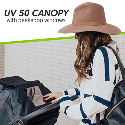 Baby Jogger City Mini 2 Stroller - 2019   Compact, Lightweight Stroller   Quick Fold Baby Stroller, Jet