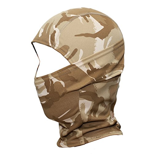 wtactful Sturmhaube mit Camouflage-Muster, für Outdoor-Aktivitäten, Radfahren, Motorrad, Jagd, Militär, taktische Airsoft, Paintball, Helm, Liner, Windschutz, Staub, Sonne, UV-Schutz, atmungsaktiv, SP-05