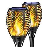 Shinmax Llama Luz Solar de Exterior, 33 LED Antorcha Luces Solares IP65 Resistente al Agua Dendas/Patio Decoración de Paisaje al aire Libre Iluminación de Llama[Clase de Eficiencia Energética A]