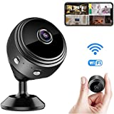 Mini WiFi Spy Camera HD 720P Wireless Hidden Video Camera Portable Tiny Nanny Cam with Night Vision & Motion Activated WiFi Home Security Surveillance Camcorder for Car Home Office