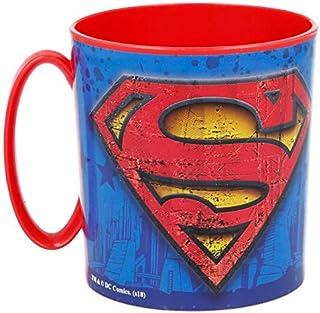 ALMACENESADAN 2113; Tazza Adatta per microonde Superman; 350 ml; Non Lavabile in lavastoviglie; Prodotto di plastica; BPA ...