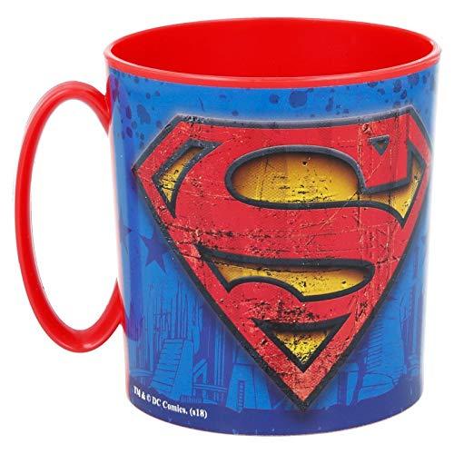 ALMACENESADAN 2113; Taza Apta para microondas Superman; 350 ml; no Apto para lavavajillas; Producto de plástico; Libre BPA