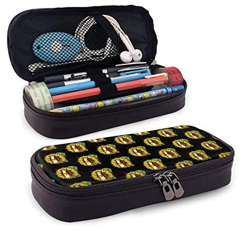 Bolsa de cosméticos multifunción con organizador de bolsa de almacenamiento de cuero de girasol hurón